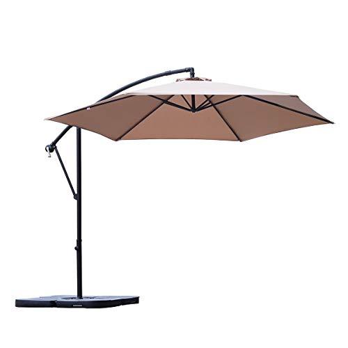 Ampelschirm 300 cm Sonnenschirm Gartenschirm Kurbelschirm mit Kurbelvorrichtung Sonnenschutz