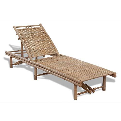 vidaXL Sonnenliege Bambus Gartenliege Pool Liegestuhl Relaxliege Strandliege
