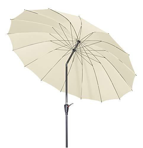 Doppler Aluminium Sonnenschirm Asia Look – Ideal für den Garten – ca. 250 cm