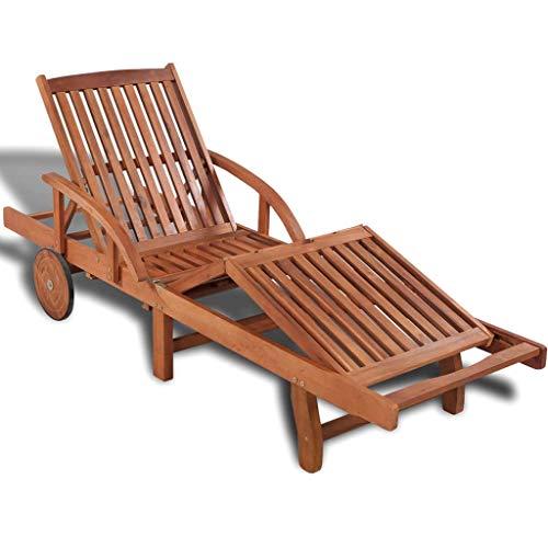Akazie Massiv Sonnenliege Gartenliege Relaxliege Holzliege Liegestuhl