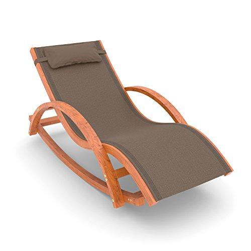 Ampel 24 Relax Schaukelstuhl Rio, Gartenmöbel aus vorbehandeltem Holz, braun, wetterfeste Gartenliege