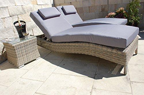 Ragnarök-Möbeldesign PolyRattan Sonnenliege